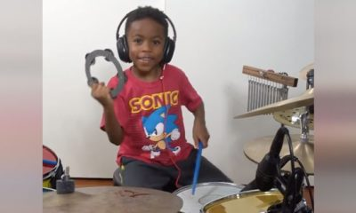 6-Yr-Old Takes World By Storm With Epic Drumming Skills He's Been Honing For Years.